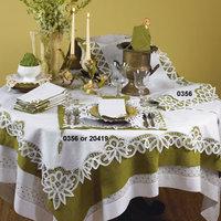 Saro Bianca Battenberg Table Topper or Napkin Sets (set of 6)