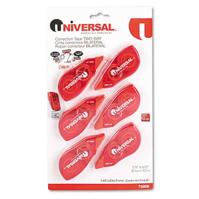 Universal Products Universal Office Products Correction Tape Universal Two Way, 1 Line