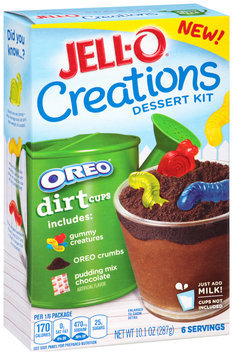 Jell-O® Creations Oreo® Dirt Cups Dessert Kit 10.1 oz. Box