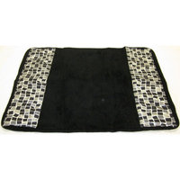 Sweet Home Collection Mosaic Stone Banded Bath Rug