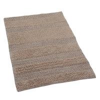 Textile Decor Castle 100% Cotton Wide Cut Reversible Bath Rug, 30 H X 20 W, Natural