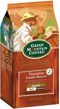 Green Mountain Coffee Roasters Ground Tanzanian Gombe Reserve Regular Medium Roast Single Origin Coffee 10 Oz Stand Up Bag
