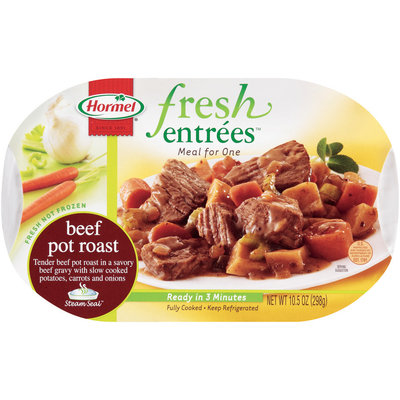 HORMEL Beef Pot Roast Meal For One Fresh Entrees 10.5 OZ TRAY