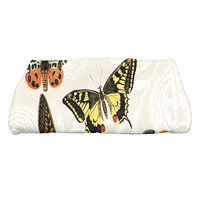 August Grove Sun Valley Antique Butterflies and Flowers Wildlife Bath Towel Color: Cream