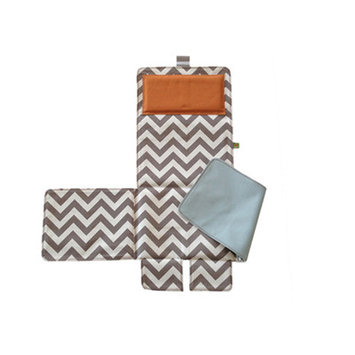 Messy Marvin Mobile Changing Pad / Cover, Blue / Orange