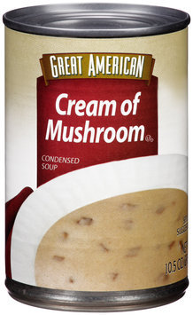 Great American Cream of Mushroom Condensed Soup 10.5 oz. Can