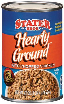 Stater Bros. Hearty Ground W/Chopped Chicken Dog Food 22 Oz Can