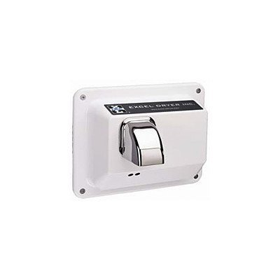 Excel Dryer Automatic Recessed Mounted 208 / 230 Volt Hand Dryer in White