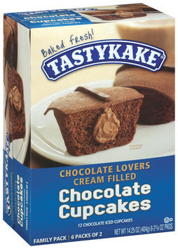 Tastykake Chocolate Lovers Cream Filled Chocolate 2 3/8 Oz Packages Cupcakes 6 Ct Box