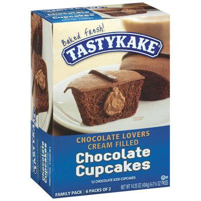 Tastykake Chocolate Lovers Cream Filled Chocolate 2 3/8 Oz Packages Cupcakes 6 Ct Box