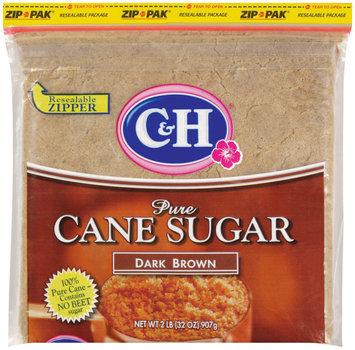 C&H Pure Cane Sugar Dark Brown 2 lb Zip Pak