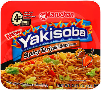 Maruchan® Yakisoba Spicy Teriyaki Beef Flavor Noodles 3.97 oz. Bowl