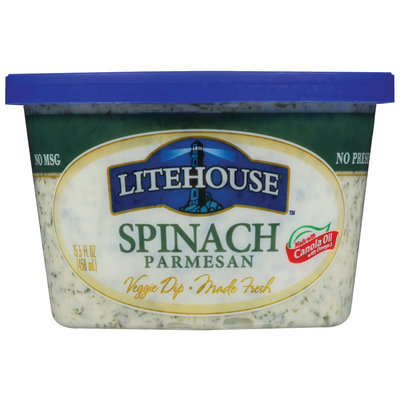Litehouse Spinach Parmesan Veggie Dip 15.5 Oz Plastic Tub