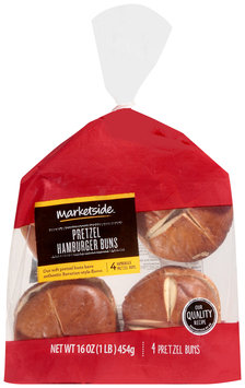 Marketside™ Pretzel Hamburger Buns 16 oz. Bag