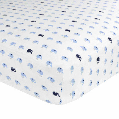 Just Born Sleep Well Jonah Fitted Crib Sheet