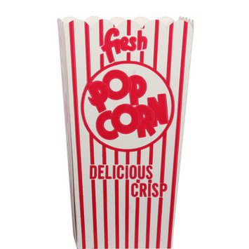 Snappy Popcorn Open-Top Popcorn Box Size: 44E