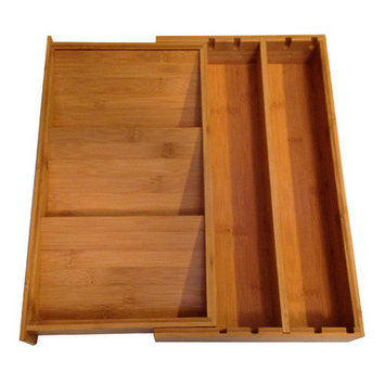 Crate And Barrel Expandable Bamboo Spice Organizer