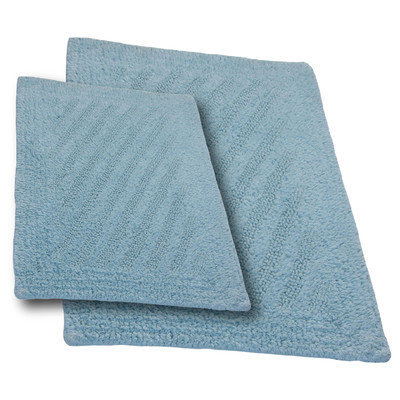 Textile Decor Castle 2 Piece 100% Cotton Shooting Star Reversible Bath Rug Set, 24 H X 17 W and 40 H X 24 W