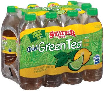 Stater Bros. Diet W/Citrus Flavor 16.9 Fl Oz Green Tea 12 Ct Bottles