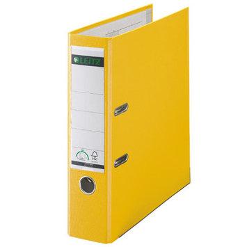 Leitz 180° 10151015 DIN A4 Plastic Lever Arch Folder 80mm Width, Yellow
