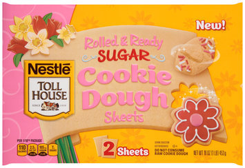 Nestlé TOLL HOUSE Spring Rolled & Ready Sugar Cookie Dough 16 oz. Sheet