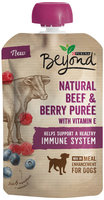 Purina Beyond Natural Beef & Berry Puree Meal Enhancement For Dogs 3.2 oz. Pouch