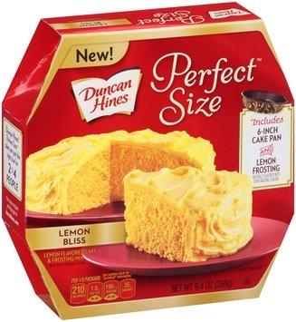 Duncan Hines® Perfect Size™ Lemon Bliss Cake Mix &  Frosting Mix 9.4 oz. Box