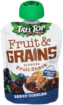 Tree Top® Fruit & Grains Berry Cobbler Blended Fruit Snack 3.2 oz. Pouch