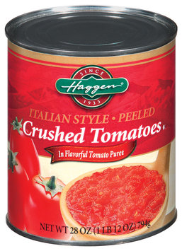 Haggen Crushed Italian Style Peeled Tomatoes 28 Oz Can