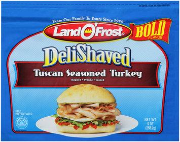 Land O'Frost® Deli Shaved Tuscan Seasoned Turkey 9 oz. Bag