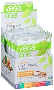 Vega™ One Plant-Based Coconut Almond Flavor Nutritional Shake Drink Mix 10-1.5 oz. Packs