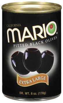 Mario Pitted Black Extra Large Olives 6 Oz Can