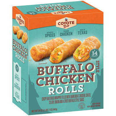 Coyote Grill® Buffalo Style Chicken Egg Rolls 34 ct Box