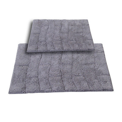 Textile Decor Castle 2 Piece 100% Cotton New Tile Spray Latex Bath Rug Set, 34 H X 21 W and 40 H X 24 W