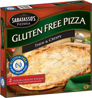 Sabatasso's® Pizzeria Gluten Free Four Cheese Pizzas 2 ct Box