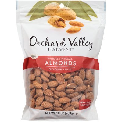 Orchard Valley Harvest® Whole Natural Dry Roasted Salted Almonds 10 oz. Bag