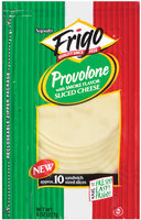 Frigo® Provolone W/Smoke Flavor Sliced  Cheese 10 Ct Peg