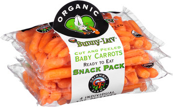 Grimmway Farms Bunny-Luv® Organic Cut and Peeled Baby Carrots 4-3 oz. Bags