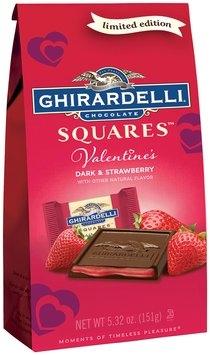 Ghirardelli® Valentine's Dark & Strawberry Chocolate Squares™ 5.32 oz. Bag