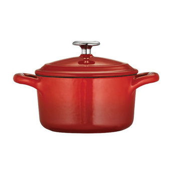 Tramontina Gourmet Enameled Cast Iron Covered Mini Cocotte, 10.5 ounce