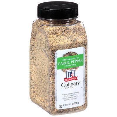 McCormick® Culinary Selects™ California Style Garlic Pepper Seasoning 17 oz. Shaker