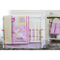 Dream On Me Naptime Friends 4 Piece Reversible Full Size Crib Bedding Set