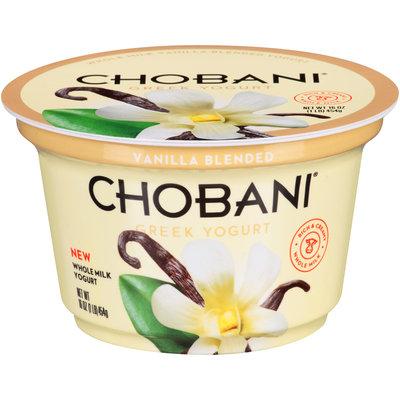 Chobani® Whole Milk Vanilla Blended Greek Yogurt 16 oz. Cup