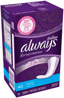 Xtra Protection Always Liners Xtra Protection Regular Dailies 40 Count