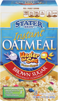 Stater Bros.® Brown Sugar Instant Oatmeal Under the Sea 8-1.76 oz.