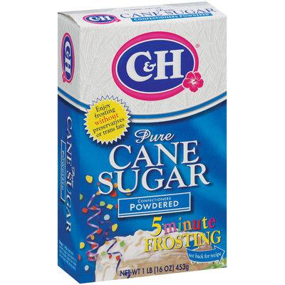 C&H Pure Cane Sugar Confectioners Powdered 1 lb Box