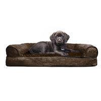Furhaven Plush Orthopedic Sofa-Style Dog Bed Color: Espresso, Size: Medium (20