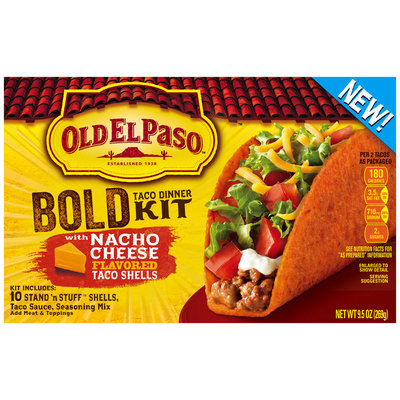 Old El Paso® Stand 'n Stuff™ Bold Taco Dinner Kit with Nacho Cheese Flavored Taco Shells