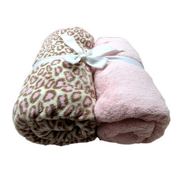 Cozy Fleece Microplush Fitted Crib Sheet Color: Pink/Pink Leopard