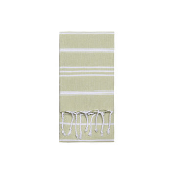 Nine Space Stripe Hand Towel 2 ea, 31 x 15, Green, 1 ea